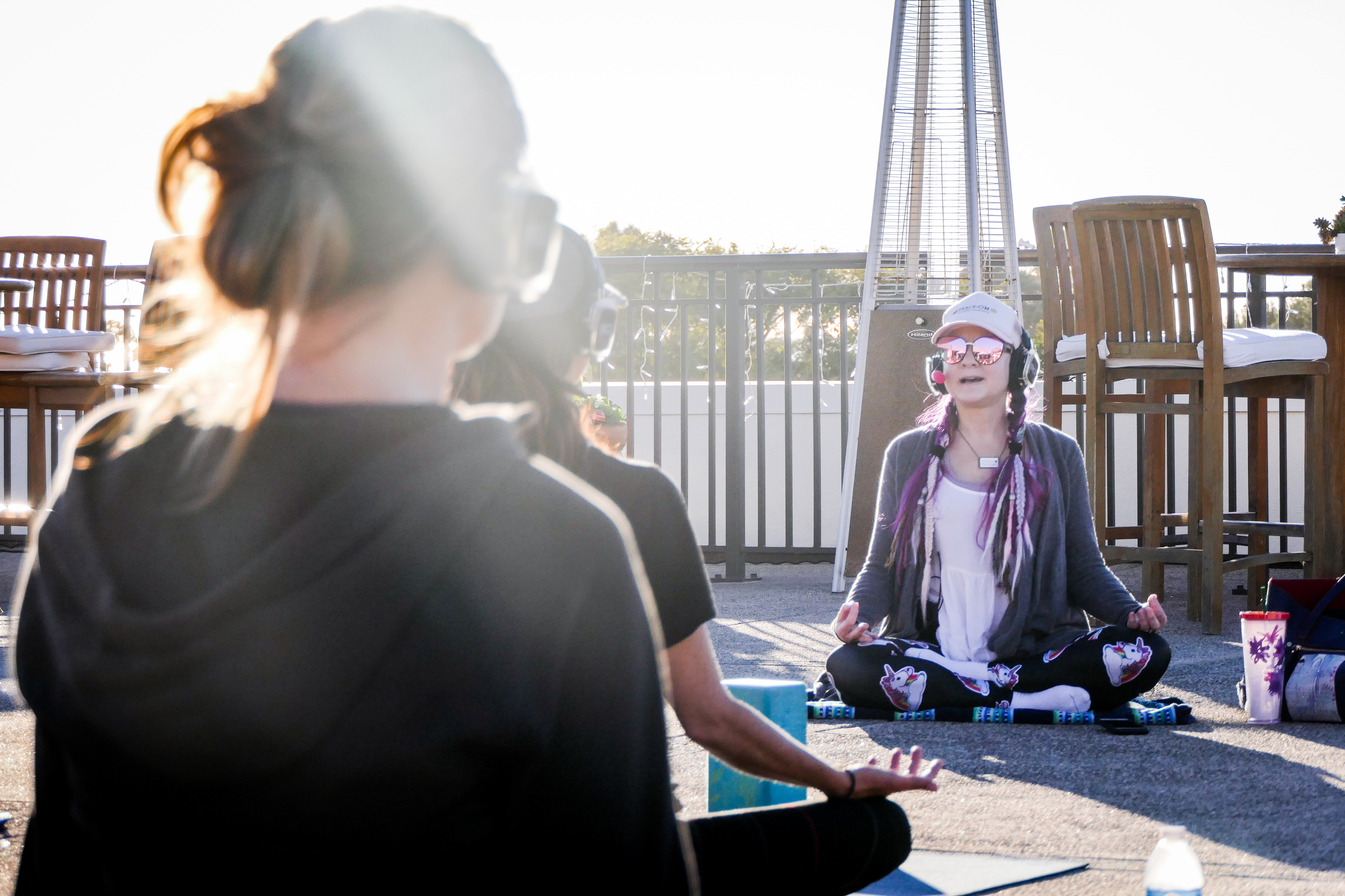 Meditative Vibes at Del Mar Plaza Ocean View Deck